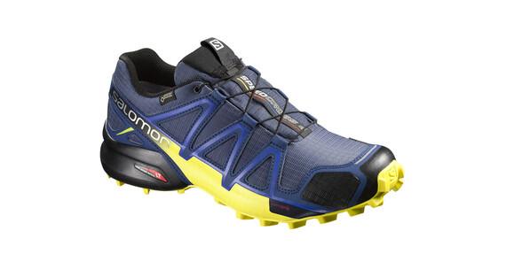 Salomon M's Speedcross 4 GTX Shoes Slateblue/Blue Depth/Corona Yellow